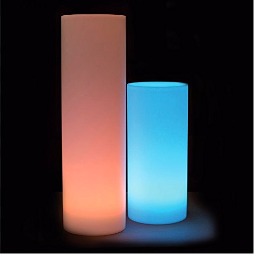 Colonnes lumineuses, 70 cm, LED, RVB, rechargeables