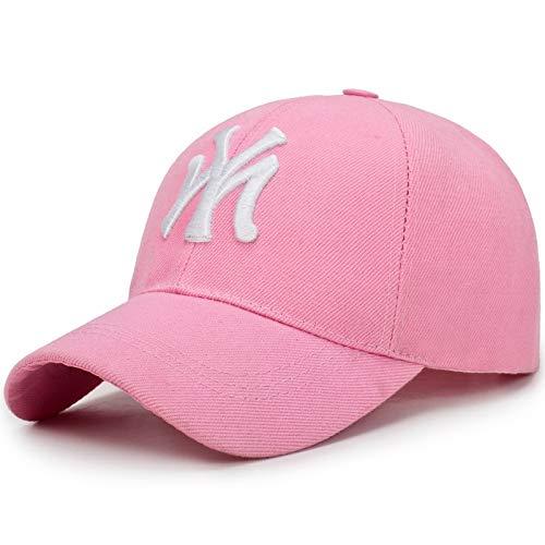 WAZHX Deporte Al Aire Libre Gorra De Béisbol Primavera Y Verano Letras De Moda Bordadas Ajustable Hombres Mujeres Gorras Moda Hip Hop Sombrero Ajustable Rosa