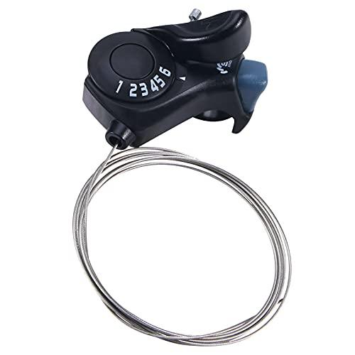 JahyElec Transmisión de Cambio de Bicicletas hacia la Derecha de Cables con la Mano Fina Mano Derecha TX30 6 Velocidad de Freno Palanca de Cambios de Pulgar la Palanca de c
