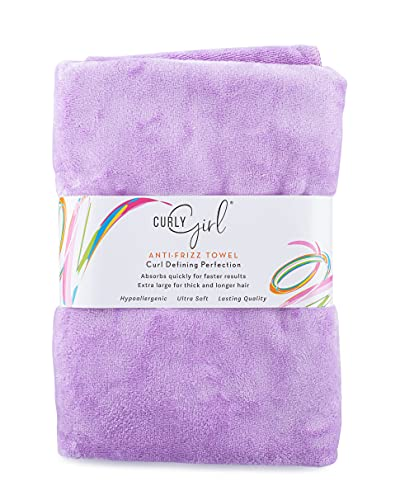 Curly Girl, Curly Hair Towel, Large Microfiber 22' x 39', Super Absorbent