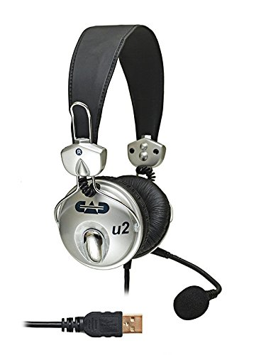 CAD Audio USB U2 Stereo Headphones with Cardioid Condenser Microphone