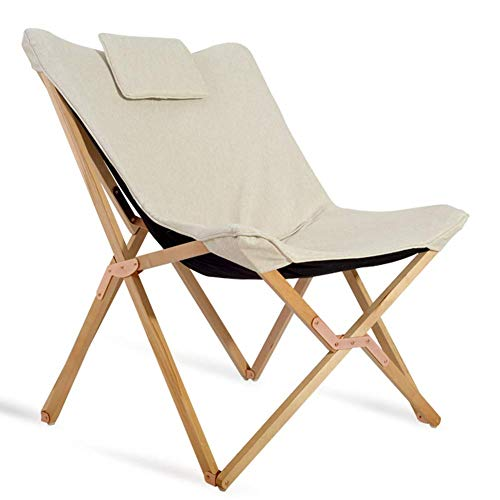 Barm Sonnenliegen klappbarer Gartenstuhl tragbare Liegebank mit Kissen aus Holz einfach entspannend faul für Strandreisen im Freien 3