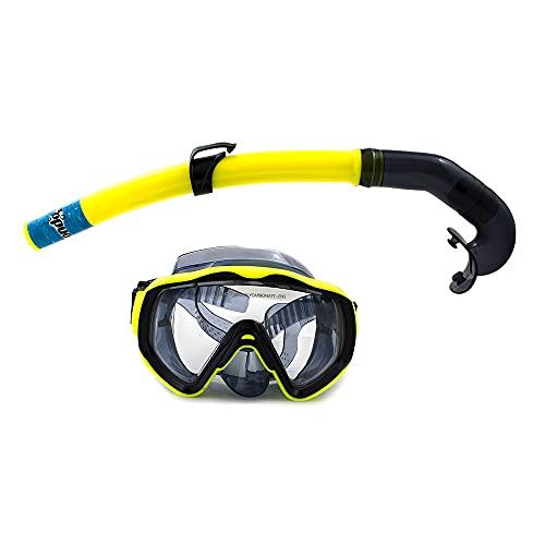 fondosub 49835 Conjunto Snórkel, Adultos Unisex, Azul o Amarillo