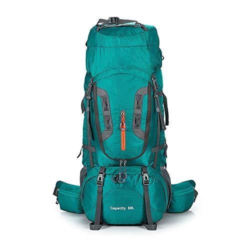 Diommest Outdoor Hiking rugzak, 80L Waterproof Travel rugzak, grote capaciteit beugel Pakket Daily zak for reizen wandelen Camping Klimmen Bergbeklimmen Daypack Mannen Vrouwen (Color : Green)