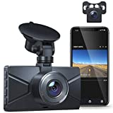WiFi Dash Cam for Cars Front and Rear Dual Lens Crosstour 1080P Car Camera with 3 Inch IPS Screen,170° Wide Angle, Loop Recording, Parking Guard, G-Sensor