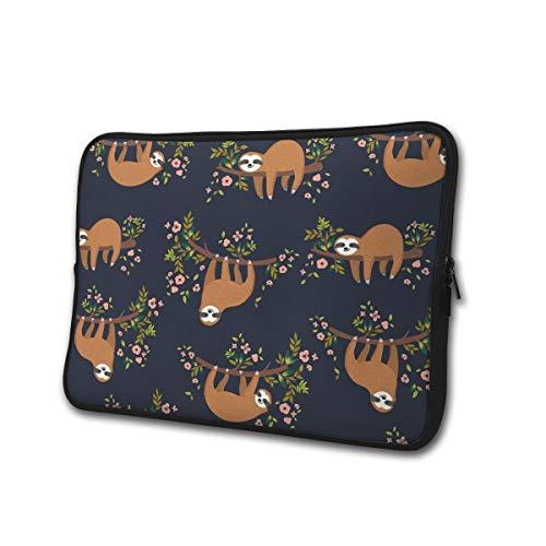 Schattige luiaard Op Boom 13-15 Inch Laptop/Tablet Sleeve Schokbestendig Neopreen Sleeve Bag voor Notebook Chromebook, Ultrabook, MacBook