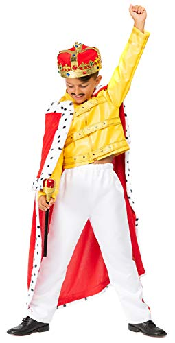 Deluxe-Jungenkostüm, Thema: 1980er-Jahre Rockmusik, König, Promi, berühmte Persönlichkeit, Karneval-, Halloween-Kostüm, Outfit, 4–10 Jahre, in Italien hergestellt