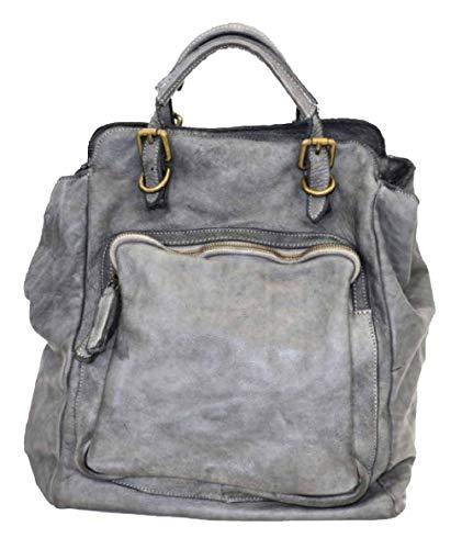 BZNA Bag Rob grijze backpacker designer rugzak dameshandtas schoudertas leer nappa sheep Italië nieuw