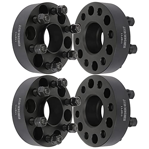 ECCPP 4X 1.5 inch 6x120mm Hubcentric Wheel Spacers Adapters 6 Lug 6x120mm to 6x120mm 14x1.5 Studs fits for Colorado Traverse for Canyon