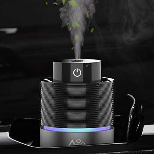 Car Diffuser Humidifiers, SEVEYEE Cool Mist Humidifier for Bedroom Travel, 200mL USB Aromatherapy Essential Oil Diffusers for Vehicle Home Office(Grey)
