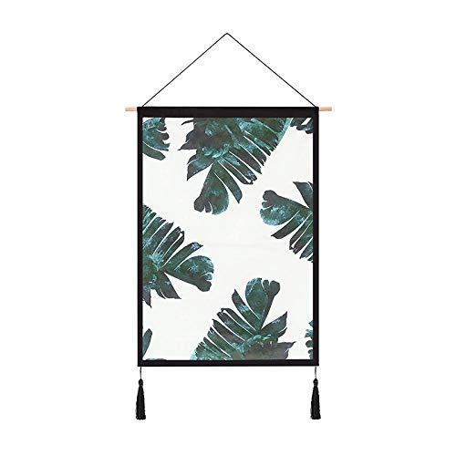PJX Tela de fondo para colgar el viento, tela de pared, red de color rojo, diseño de habitación de alquiler de habitación, dormitorio, pintura de plátano roto, 46 cm de ancho x 66 cm de alto