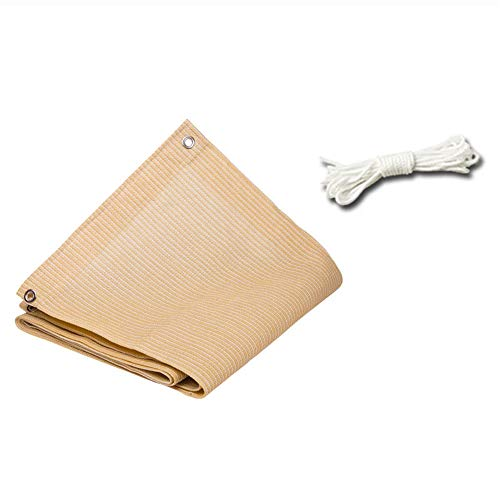 ZMXZMQ Beige Sun Shade Fabric Sunblock Shade Cloth, 85% Resistente A Los Rayos UV Malla Cubierta, con Ojales En 4 Lados, para Exteriores, Patio, Toldo, Cubierta De La Ventana, Pérgola,3x4m