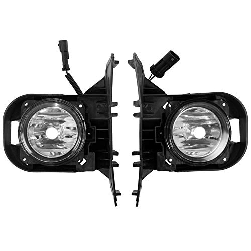 ECOTRIC New Front Fog Lights Lamps With Bezels & Bulbs & Hardware Compatible with 2000-2004 Ford F-150 Harley Davidson (Passenger & Driver Side)