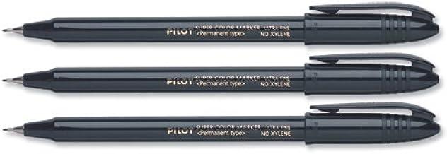 tratto 0,4 mm Pilot SCAUF01 colore: Nero Confezione da 12 pennarelli indelebili Scan-Uf a punta ultrafine