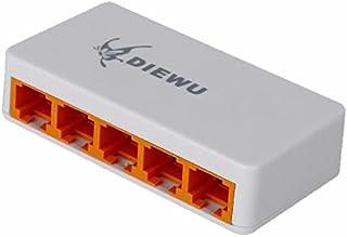 Portable 10/100Mbps 5 Ports Fast Ethernet RJ45 Network Switch Switcher Hub Desktop Laptop,Travel LAN Hub Power by Micro USB