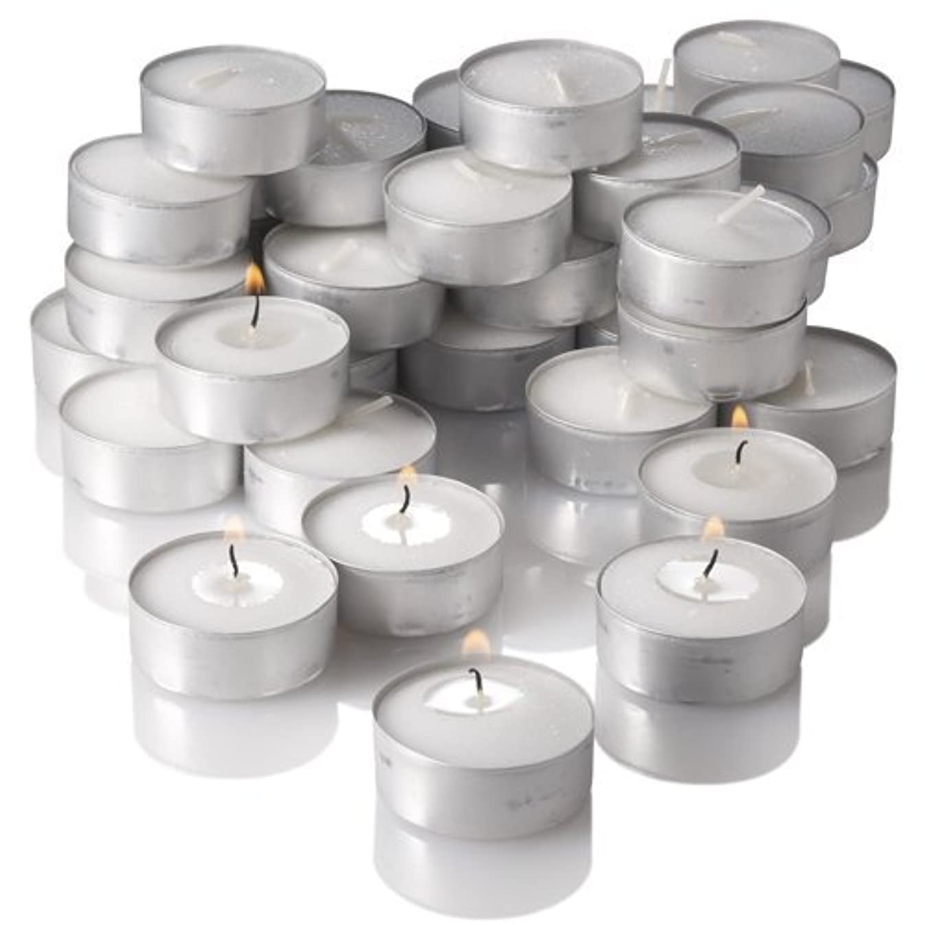 Richland Unscented Tealight Candles, White, Set of 125