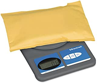 Brecknell Digital Postal Scale - 11 lb / 5 kg Maximum Weight Capacity - ABS Plastic - Gray