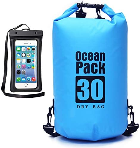 MR LION Floating Waterproof Dry Bag 10L 20L 30L Roll Top Dry Sack Keeps Gear Dry for Kayaking product image