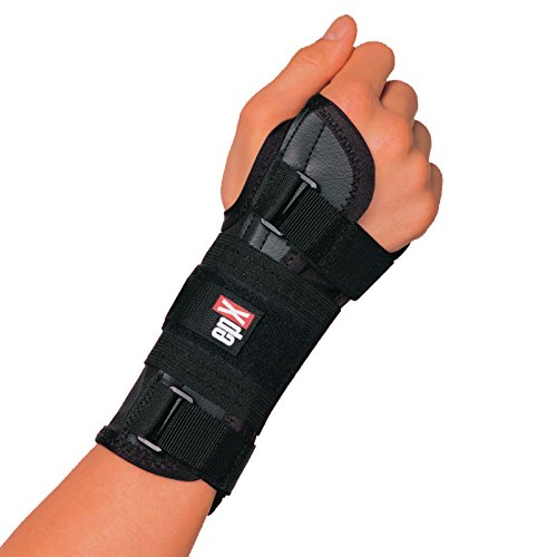 epX Wrist Control, Wrist Brace for Sprains, Contusions, Carpal Tunnel, and Immobilization, Adjustable Wrist Support with Rigid and Flexible Stays, Large Thumb Opening, Easy to Don, Right, Medium