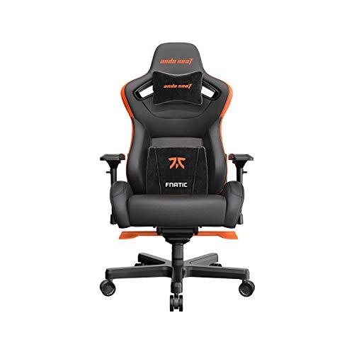 Anda Seat Fnatic Edition Pro Gaming-Stuhl, Schwarz und Orange, Premium Office with Lumbar Back Support Desk Chair   Ergonomic Backrest, Seat & Arm Height Adjustment Chairs