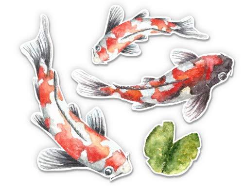 pond fishes GT Graphics Koi Pond Fish Pretty Set - 8