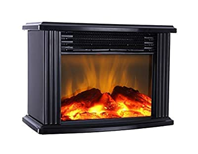 DONYER POWER Mini Electric Fireplace 1500W Protable Fireplace Heater