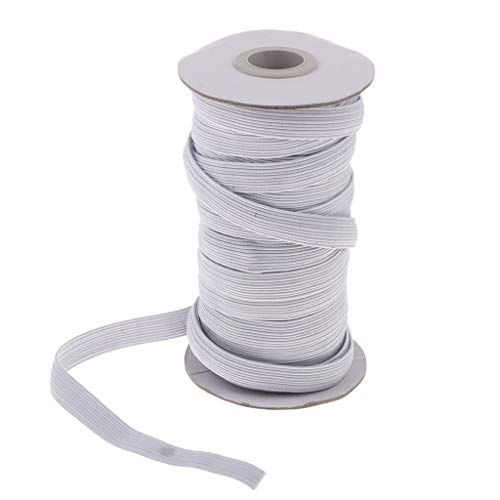 Milageto Banda Elástica Elástica Cordón Elástico Plano Costura Liguero Suministros para Cinturones de Liga