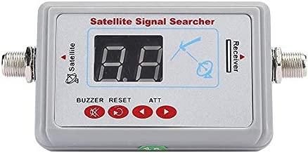 Bewinner1 Digital Finder Satellite Finder, Portable Signal Strength Meter, Professional Satellite Equipment Locators, LNB to REC Sensitive Satellite Finder Digital Connector