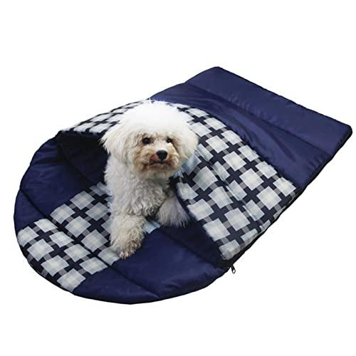 Theaceae Saco de dormir para perros impermeable de viaje grande portátil para interior al aire libre cálido camping senderismo mochilero