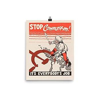 Vintage Poster - Stop Communism 1193 - Enhanced Matte Paper Poster  8x10