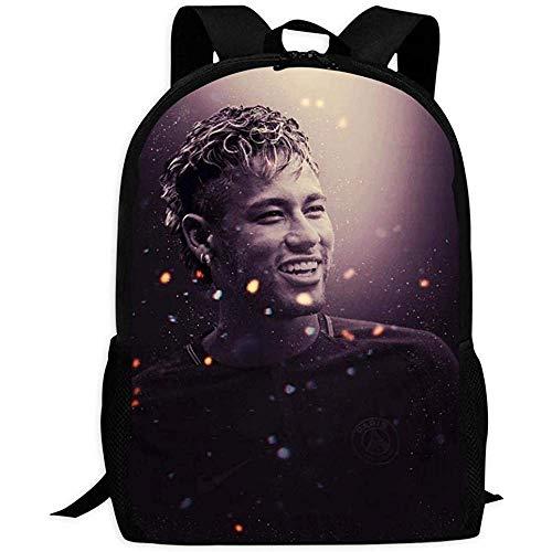 hengshiqi Rucksack Schultasche,Backpack, Student Backpack,Football Neymar Jr Backpack Fashion School Bag for Adult