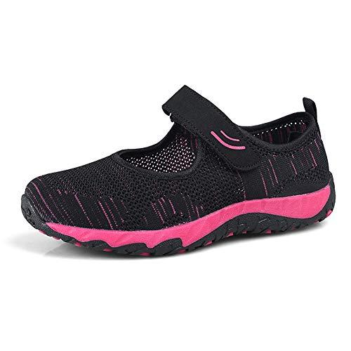 [Kanouhope] レディース安全靴 ナースシューズ 通気性 柔軟性 メッシュ エアクッション付き お母さん 婦人靴 軽量 スボーツスニーカー 24.5cm ブラック 黒39