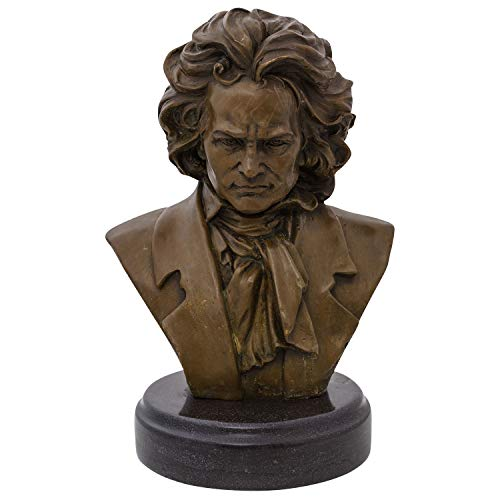 Aubaho Escultura Bronce Ludwig Van Beethoven Compositor
