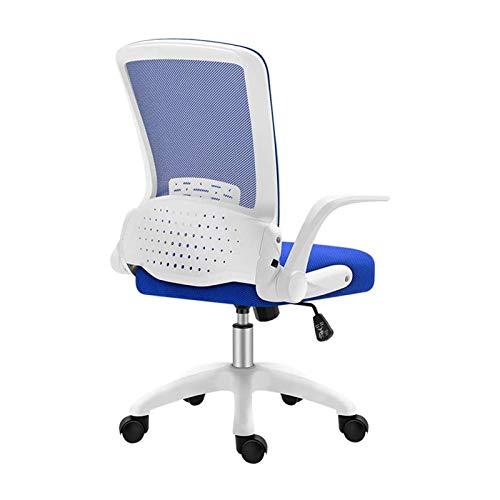 Bürostühle Home Office Schreibtischstühle, Latexkissen mit weißem Rahmen 360 & deg; Drehsitz, umklappbare Rückenlehne Klappbare Armlehne Ergonomischer Bürostuhl