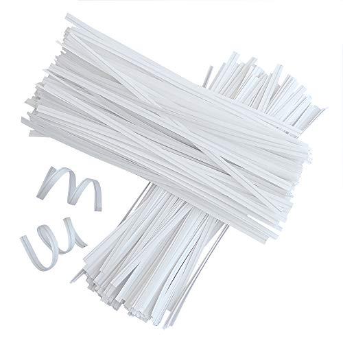 1000 Piezas 15cm Lazos de Torcedura Papel Kraft Alambre Metálico Decorativo Precintos Metálicos Giro Lazos de Pan de Corbatas para Bolsa de Dulce Caramelo
