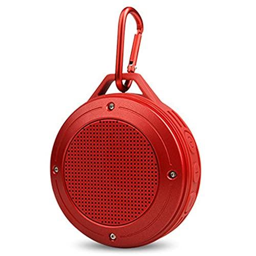 RYSF Haut-Parleur Portable stéréo sans Fil extérieur Bluetooth Micro intégré Résistance aux Chocs IPX6 Haut-Parleur étanche avec Basse (Color : Red)