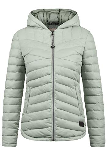 DESIRES Quella Damen Steppjacke Übergangsjacke Jacke Mit Kapuze, Größe:L, Farbe:Slate Grey (3579)