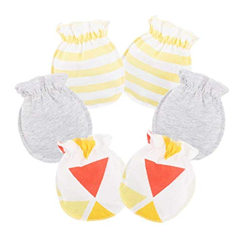 LOVARTS BEAUTY LOVARTS BEAUTY 3 Pack Baby Handschuhe aus Baumwolle Neugeborene Mädchen Junge Kratzhandschuhe & Fäustlinge gegen Kratzen