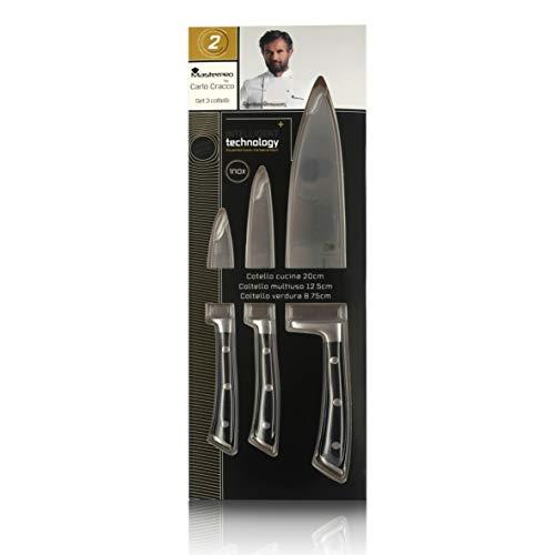 Juego de 3 Cuchillos de Cocina Profesional | Acero Inoxidable | Colección MasterPRO