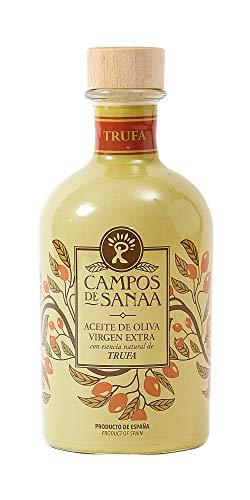 CAMPOS DE SANAA .- Aceite de Oliva Virgen Extra con con esencia natural a Trufa Negra (250ml)