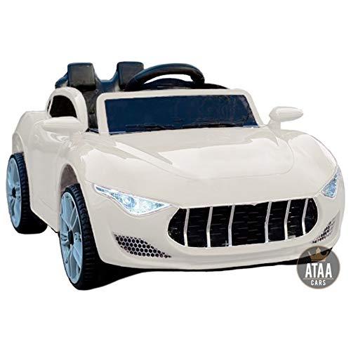 ATAA Elegant - Blanco - Coche eléctrico para niños con Mando para Padres batería 12v- Coche eléctrico Infantil -