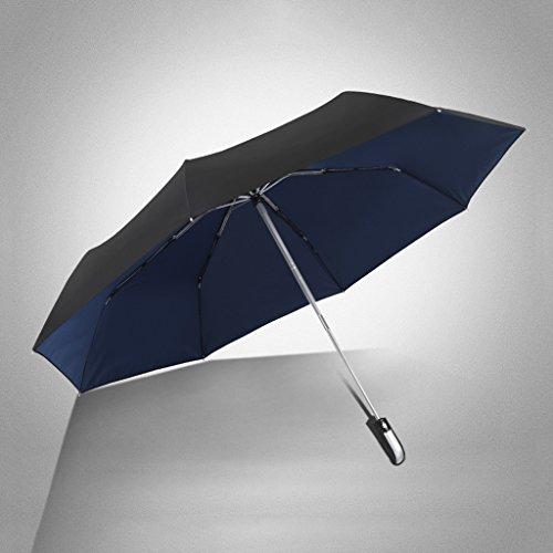 MSF Paraplu Compacte Reisparaplu, winddichte dubbele overkapping - Auto Open Sluitknop voor bediening met één hand - Stevig Draagbaar en Lichtgewicht voor gemakkelijk dragen