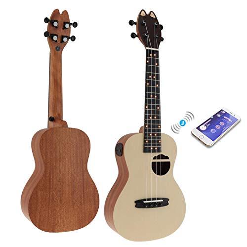 KEPOHK Q1 / U1 / S1 23 Zoll Smart Concert Ukulele Spruce Wood Akustische 4-Saiter-Gitarre mit APP-Unterricht 23 Zoll Q1