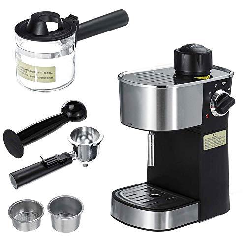HRRH Cappuccino Coffee Maker, 220V Semi-Automatic Steam Type Espresso Machine 800W Espresso Coffee Machine