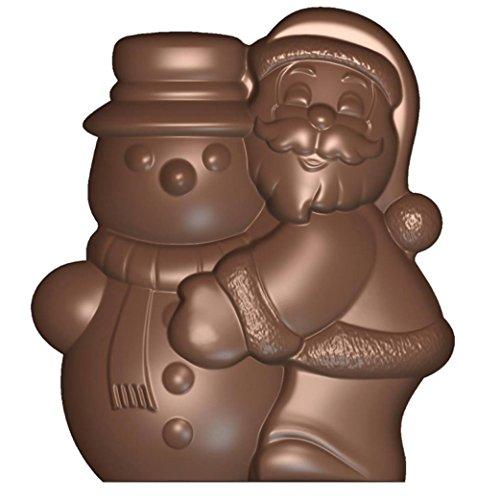 Siccardi Stampo per Cioccolato in policarbonato Babbo Natale + Pupazzo di Neve