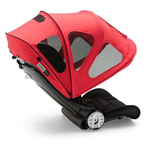Bugaboo Bee Breezy Sun Canopy, Neon Red - Extendable Sun Canopy with UPF Sun Protection and Mesh Ventilation Panels