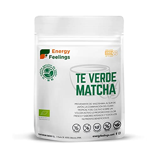Energy Feelings Té Matcha Verde Orgánico Japonés | Té Matcha Premium Ecológico cultivado en Japón | Matcha Slim en Polvo | Ideal para Bebidas, Cocina, Latte | 200g