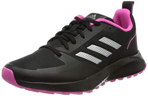 adidas Damen Runfalcon 2.0 TR Running Shoe, Core Black/Silver Metallic/Screaming Pink, 39 1/3 EU