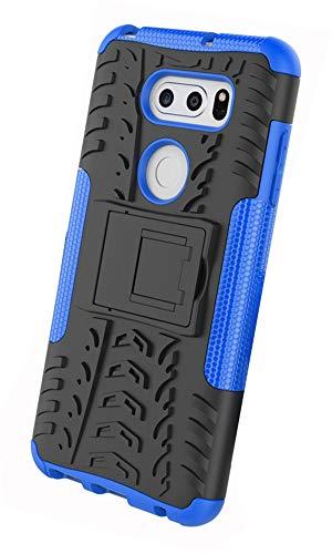 Tianqin LG V30 Cover, 2 in 1 Supporto Anti Urto Super Protettiva Case Bumper Rugged Armatura Custodie Doppio Strato Ibrido Caso per LG V30 - Blu