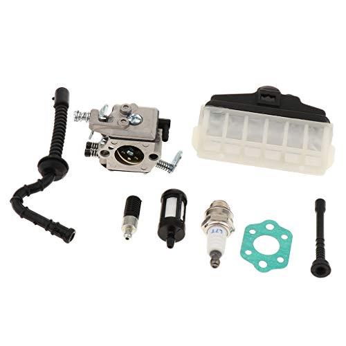 F Fityle Carburador Carb Piezas de Recambio para Stihl Ms210 Ms230 Ms250...